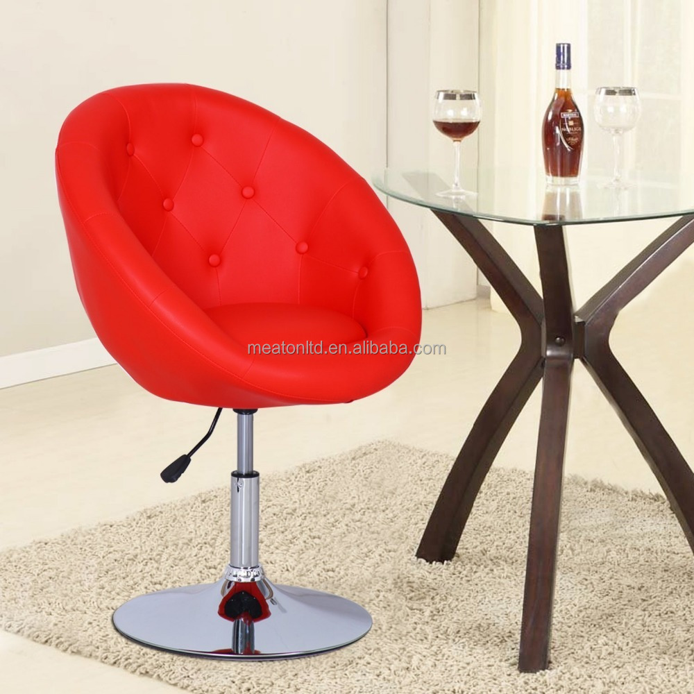 Leather Modern Swivel Leisure Chair Lounge Chair Red