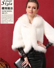 2015 high -end new fashion faux fox fur vest