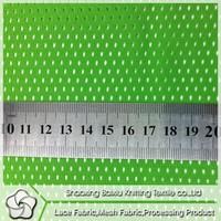 Fashion Wholesale clothing 100 polyester green bird eye fabric for sports wear