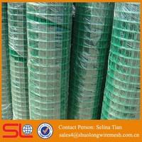 1inch x 2 inch green14 Gauge Vinyl Coated Welded Wire Mesh Fence 36''width 100' length