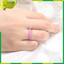 diseño personalizado de silicona de moda anillo de bodas
