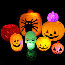 Halloween series Items /Plastic pumpkins items/ led night light pumpkin