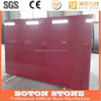 cheap solid surface lowes red sparkle quartz stone bathroom countertop
