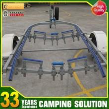 Semi aluminum boat trailer