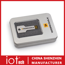 Promotional USB Key Flash Drive with Metal Gift Box