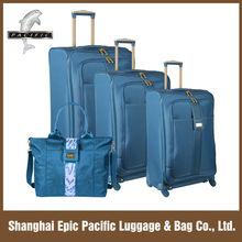 New Fasion Design Nylon Luggage Bag Set With Four Wheels Navy Blue