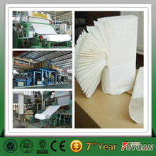 2015 new condition small toilet paper production line, raw material: waste paper, wood pulp board