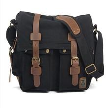 Custom fashion canvas backpack man camera bag