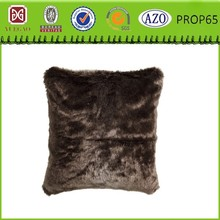 Brown Faux Fur Cushion Decorative Pillow Cover