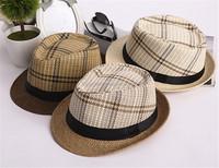 Custom hot sellig breathable coffee fedora straw hat summer cool strawhat buy man hat fedora