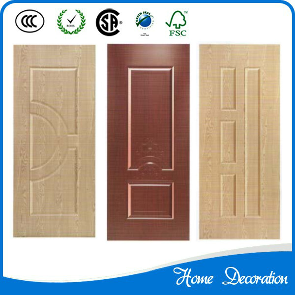 Mahogany melamine laminate hdf moulded door skins 4mm with for Mahogany door skin