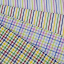 Candy colored strip check fabric