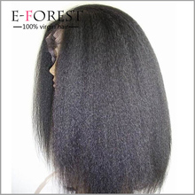 Best Quality Virgin Peruvian Hair Glueless Lace Front Wig Sewing Hair To Wig