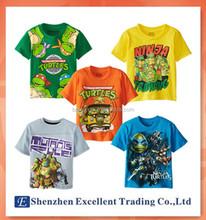 New TMNT Teenage Mutant Ninja Turtles Baby Kids Boys Short Sleeve T-shirt