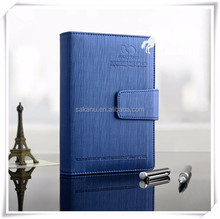 Custom A6 PU faux leather magnetic business notebook notebook cover case