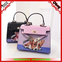 fashion bags for women 2015,printing dog styles mini handbag