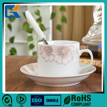 Factory direct sale cheap elegant ceramic coffee cup & saucer