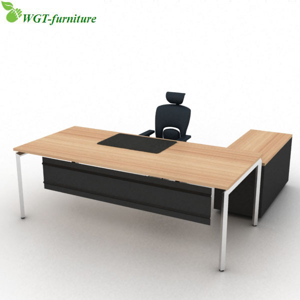 Shaped Wooden Modern Executive Office Desk - Buy Office Desk