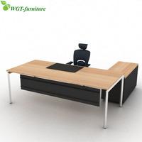 l shaped wooden modern executive office desk