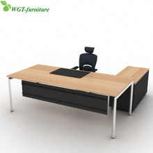 l shaped wooden modern executive office desk