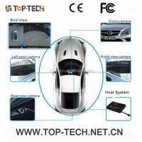 Car DVR camera 360 degree all round bird view System for car safe driving 4channels around view monitor