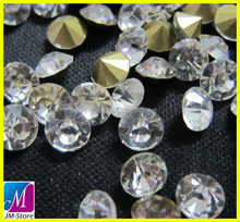 Wholesale Clear Crystal ss24 Pointback Rhinestone Garment Accessories