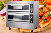 Hot sale 2 Deck 4 Trays Electric Commercial Pizza Oven Price