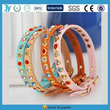 Jewelry pet collar leather dog collar with jewelry