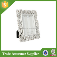 White Resin Ornate Scroll Photo Picture Frame