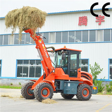 small farm wheel loader TL1500 with hay fork telescopic front end loader