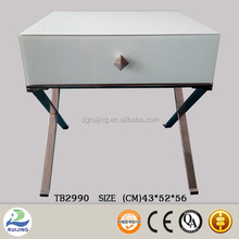 Modern Home Use Glass Side Table Drawer