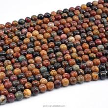 الصين الجملة الخرز فضفاض الأحجار الكريمة حجر اليشب صورة 4-14mm للمجوهرات