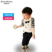 C-014 ropa para niños de primavera el envío gratuito nueva afluencia corbata de lazo de ocio de los niños traje de los niños