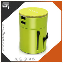 personal dual usb 3 years warranty 3000mA travel electrical adapter