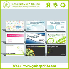 2015 high rate selling offset printing new style fashion free size 600g paper print foiled business cards