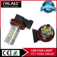 cars auto parts 12v cr ee h11 led 100w daytime running fog lights bulb for CAR LED fog light cover for au di