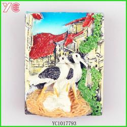 YC1017793 birds market quality product OEM epoxy magnet fridge magnet
