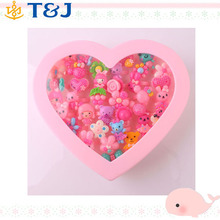 Wholesale Animals Flower Heart Assorted Baby Kids Girl Children's Cute Cartoon Rings