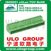 Supply Top Quanlity Low Price Plug PCB Terminal Block With UL TUV 025 From ULO