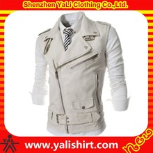 High quality custom plain white waterproof new model biker leather motorcycle vest