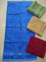cotton jacquard custom beach towels bench bath towel