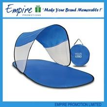 Bleu pliable tente extérieure étanche polyeater tapis de plage soleil abri