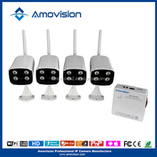 720P 4CH All-in-One IP Camera qr code NVR Kit