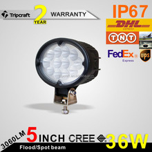 Wholesale 6.5'' oval offroad auto light system 36w led work light for truck