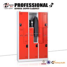 Changing room furniture z shape clothes locker/metal locker