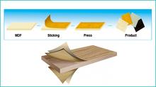 Máquina de carpintería de pegar PVC o papel