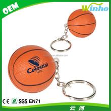 Winho Personalized Basketball Stress Ball with Keychain