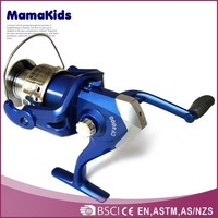Top grade metal spinning wholesale fishing reels with aluminum body and multi colored aluminum spool