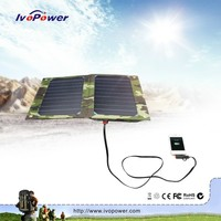 New 10 watt 5v 2a solar panel charger with 6000mah power bank built-in high quality solar charging bag