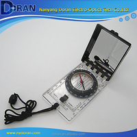 Outdoor Map Compass With Stainless Steel Mirror Folded Compass With Protector